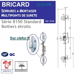 Serrure Bricard 8150 3 points standard