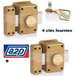 Paire de verrous POLLUX Haute Sureté A2P* - 4 clés