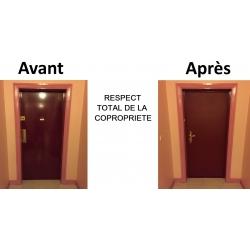 Pose porte blindee dans le respect de la copropriété Rouen (76)