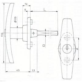 POIGNEE A CARRE 8mm FILETE-2C