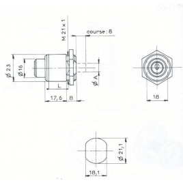 POUS.RD.RONIS 1342 D23mm-2C