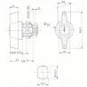 BOUTON VERROU L13.2mm-2C