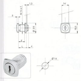 S.BATT-T/CARRE D14-2C