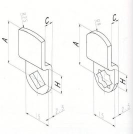 CAME COUDEE DEC.13.5 mm