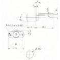 SERRURE A ENTRAINEMENT - D18mm - 2 CLES