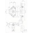 SERRURE ESPAGNOLETTE A25 C16.5 - 2 CLES