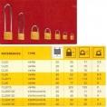 CADENAS SURETE - 38mm/ANSE 120mm - 2 CLES