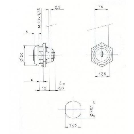SER.BATEUSE L12mm / D20 - 2CL
