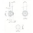 SERRURE BATEUSE L12mm / D20 - 2 CLES