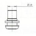SERRURE A ENTRAINEMENT L27/D20mm