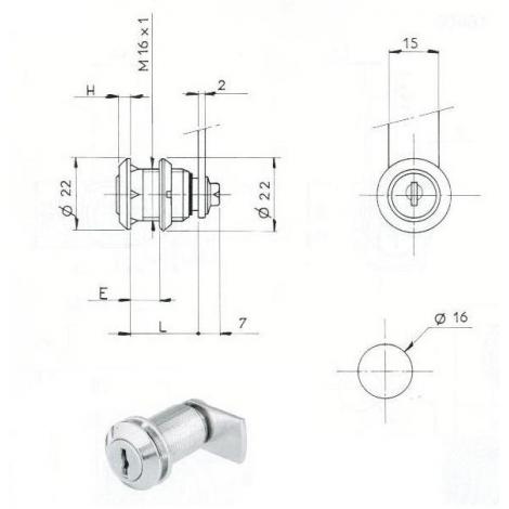 SER. BATT ECROU L25/D16mm-2C