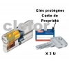 CYLINDRE ABUS EC-S - CLES REVERSIBLES PROTEGEES