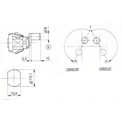 SER.A ROULEAU L15mm-2 CLES