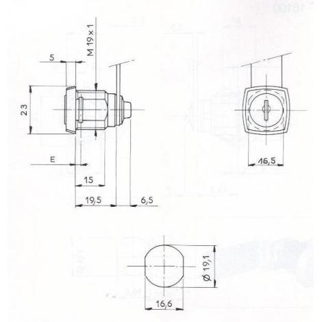 S.BATT.CARRE-ECROUS L26/D19-2C