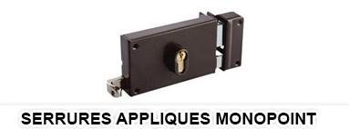 Serrures appliques monopoint - serrure applique securite rouen le havre 76