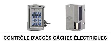 Contrôle d'accès - gache serrure electrique controle acces badges rouen le havre 76